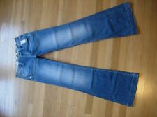 NWT WOMENS MISS ME FACTORY FADED WIDE LEG CRYSTAL BLUE DENIM JEANS SIZE 26