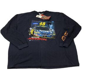 Jimmie Johnson # 48 SZ XL Long Sleeve Shirt Nascar New Tags Graphic 2004 VTG A3