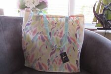 Atmosphere Pastel Leaf Print 100% Cotton Tote Bag new with tags