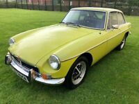 1974 MGBGT Coupe Manual O/drive Chrome Bumpers 84k Exc Mech MOT July Tax Exempt