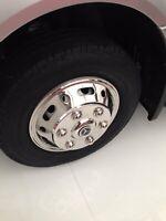 14/inch NRM KO254/Kando Hub Wheel Trims,/Black//Red Set of 4