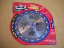 "Vermont American Micro Edge 5-3/8"" Carbide Teeth Saw Blade, 18 Teeth"