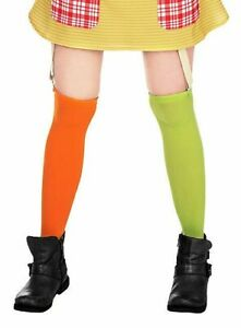 Pippi Longstocking Stockings Womans Fancy Dress Book Week Character Accessories