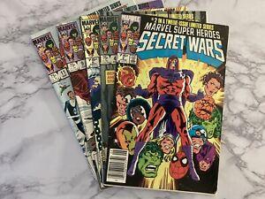Marvel Super Heroes Secret Wars Lot  #2,#4,#5,#9,#11.