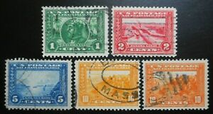 U.S.Stamps:Scott#397-#400A, 1c,- 10c, The Panama-Pacific Exposition, of 1913-15