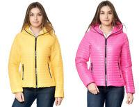 Damen Steppjacke Übergangsjacke Jacke Kapuze weiß blau schwarz 34 36 38 40 42