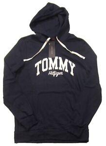 Tommy Hilfiger Sleepwear Men's Navy Logo Graphic Long Sleeve Pullover Hoodie