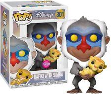 Figurine Pop Funko Disney - Le Roi Lion - Rafiki & Simba Flocked / Velours