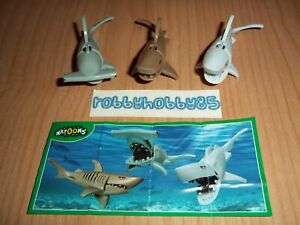 SHARKS COMPLETE SET WITH ALL PAPERS KINDER SURPRISE EGG TOYS 2016/2017