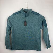 Greg Norman L Men's Golf Pullover Sweatshirt Teal Blue Quarter Button