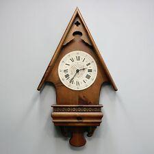 "Vtg 24"" Tall Howard Miller Barwick Alpine Wall Wood Quartz Clock Model 4984"