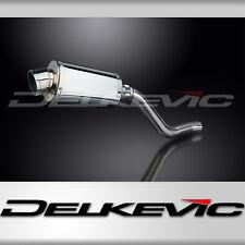 "Kawasaki KLR650C 9"" Stainless Oval Muffler Exhaust 95 96 97 98 99 00 01 02 03"