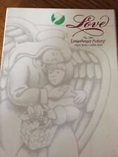 1995 Longaberger Pottery Love Angel Cookie Mold with Recipe NEW
