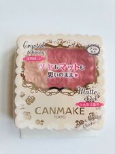 CANMAKE Matte & Crystal Cheeks Blush # 01 New Made In Japan