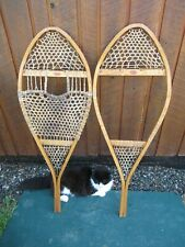 """VINTAGE Snowshoes 44"""" Long x 16"""" Wide FABER Great for DECORATION"""