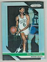 2018-19 Panini Prizm SILVER REFRACTOR PRIZM #25 BILL RUSSELL Boston Celtics HOF