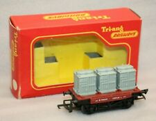Vintage Triang OO Gauge R340 3 Containers Wagon, Boxed RN B734259 # 1