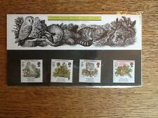 1986 4 ROYAL MAIL MINT STAMPS NATURE CONSERVATION PRESENTATION PACK WITH SLEEVE