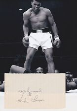 Muhammad Ali 1960's Signature + 8x10 KO Liston Photo AFTAL/UACC RD