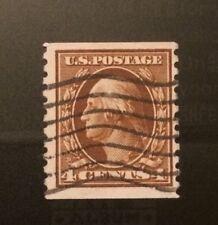 US Genuine Coil: Scott #446 4c Washington Franklin Issue: USED  PSAG CERT. $150