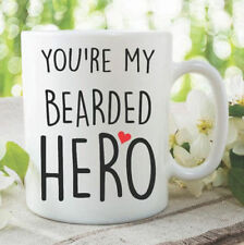 Funny Novelty Mugs Coffee Tea Cup Beard Mugs You're My Bearded Hero WSDMUG1132