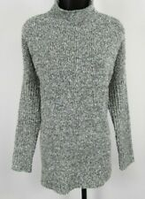 Mossimo Gray & Silver Shimmer Turtle Neck Sweater Women's Size Medium
