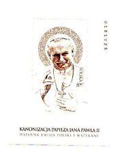 2014 Polonia  foglietto 2° Congiunta Vaticano Canonizzazione Papa G.Paolo II