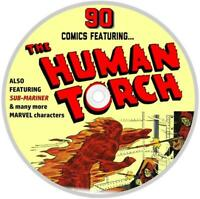 90 Comic Books Featuring The Human Torch & Sub-Mariner Marvel Comic Super Heroes