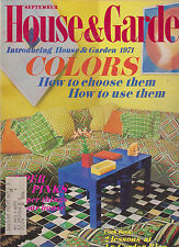 HOUSE & GARDEN MAGAZINE SEPTEMBER 1970 *COLORS: HOW TO CHOOSE AND USE THEM*