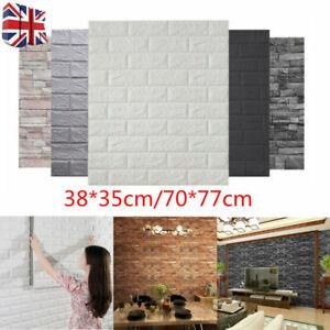 20X 70x77CM Large 3D Tile Brick Wall Sticker Self-adhesive Waterproof Foam Panel