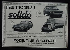 Model Time Solido Citroen Cx Magirus Volkxwagen    advert publicité