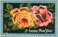 Old  English    postcard.    Happy New Year