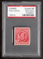 US @ 885 (1940) 2c- PSE Graded: Sup98-Mint OGnh (Encapsulated) James Whistler