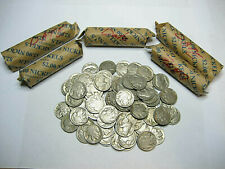 5 Rolls +16 Buffalo Nickels - (216 total coins)  w/ Partial & Full - Mixed Dates