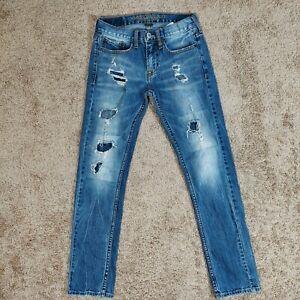 American Eagle Slim core flex jeans skinny mens size 28*30 distressed blue denim