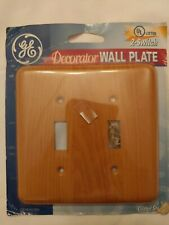 2 pkgs Switch Plate Coated Steel Wall Cover Plate 2 Gang Wood Tone-Coated Steel