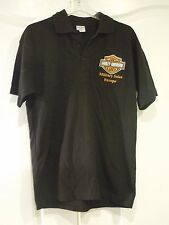 Vintage Harley-Davidson Motorcycles Military Sales Europe Polo Shirt Size S