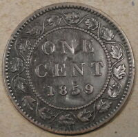 Canada 1859/8 Large Cent as Pictured
