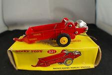 Dinky Toys Gb n°321 Massey Harris Manure spreader remorque épandeur fumier boîte