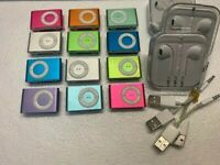 Apple iPod shuffle 2nd Generation Pink Orange Silver Green Red Blue (1GB)