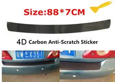 Car Sticker Rear Bumper Protector Carbon Fiber Cover Glossy Black From US 1Pcs