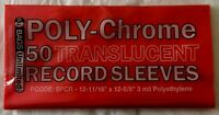 """50 Red Poly-Chrome Outer Sleeves 3 Mil 12"""" Record LP Album Cover 33 RPM Vinyl"""