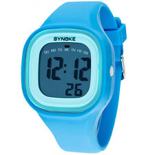 Student 5ATM Waterproof Children LED Digital Watch Alarm Date Day Wrist Watches