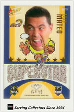 2009 Select NRL Champions Superstar Acetate Mascot Gem Card MG10 Feleti Mateo