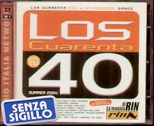 """COMPILATION """" LOS CUARENTA (40) SUMMER 2004 """" 2 CD NUOVO 8032484007376"""