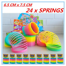 24 X SUPER FLEXIBLE NEON COLOURFUL MAGIC SPRING SLINKY TOYS PARTY GIFT EVENT AP