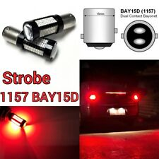 Strobe Brake Light 1157 2057 3496 7528 BAY15D 108 SMD Red LED Bulb B1 #12 For GM
