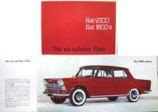 Fiat 1800 B & 2300 Special Saloon Estate 1962-63 Original UK Sales Brochure 1776