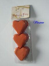 Coeur en papier en coque x100gr. orange. dim.5x5cm. Décoration de mariage