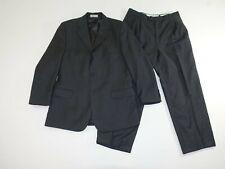Pronto Uomo Men's 3 Button Suit Size 42 Regular 32 x 28 Gray Super 100s Wool 42R